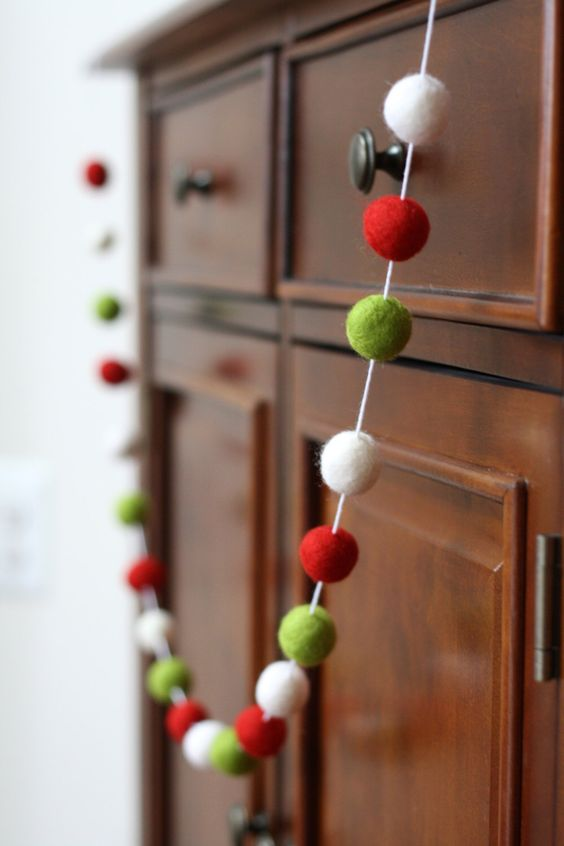 Colorful Christmas Garland