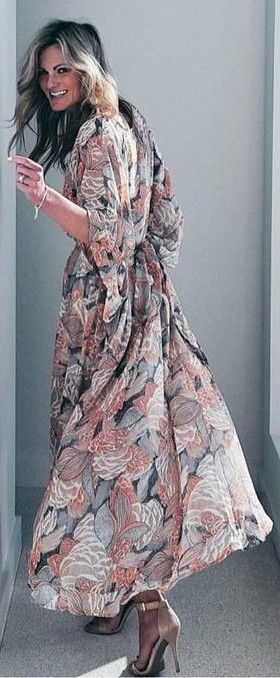 Twirling Floral Maxi dress