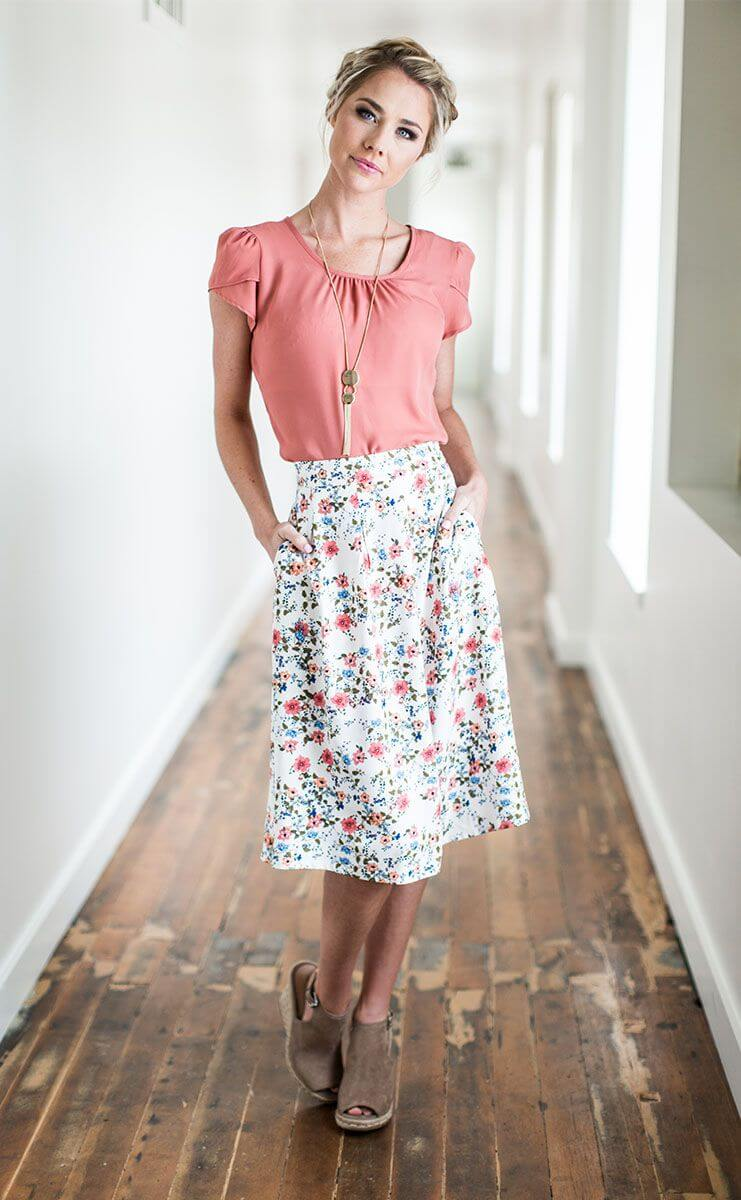 Functional, Pocket Midi Skirt
