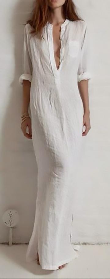 The elegant white maxi