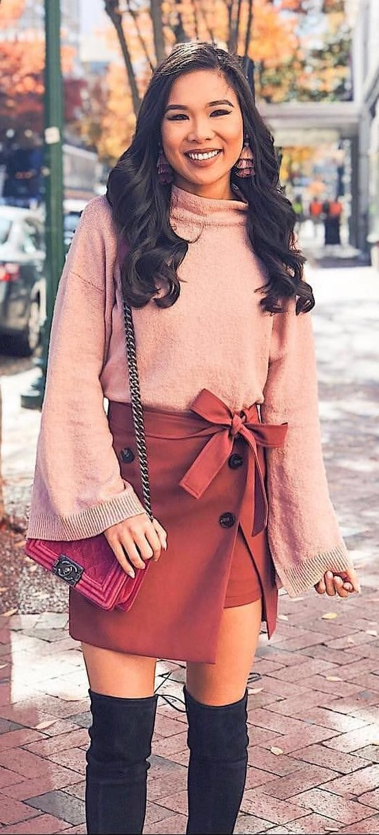 beige and brown long-sleeve dress