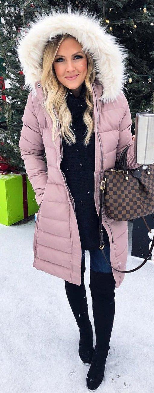 purple parka jacket