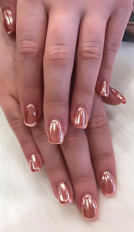 Nail Powder: 50 Gorgeous Metallic Nail Art Designs To Try Now