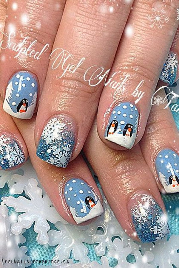 70 Best Christmas Nail Art Designs For 2019 187 Ecstasycoffee