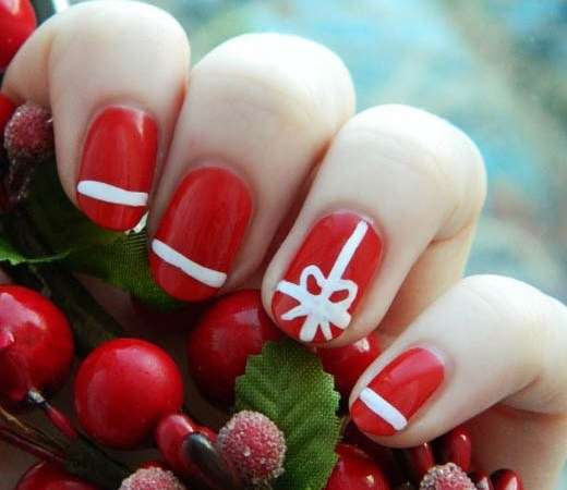 Nails archives ecstasycoffee 25 super cute christmas nail art you can try yourself solutioingenieria Gallery