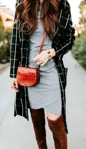 Leather sling bag.
