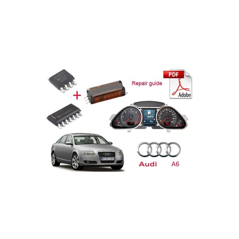 Audi A6 instrument cluster speedometer dashboard repair