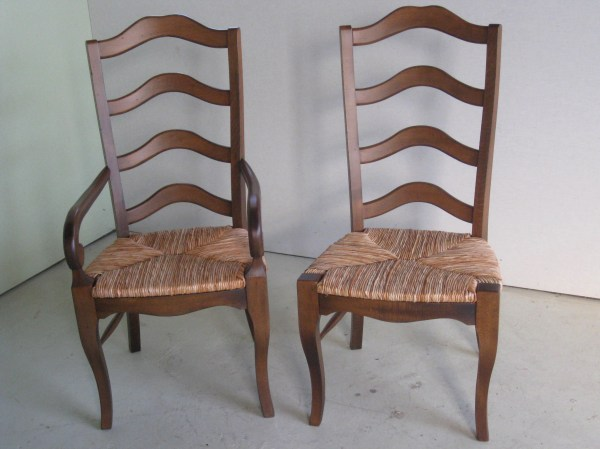 Black French Ladder Dining Chairs - Ecustomfinishes