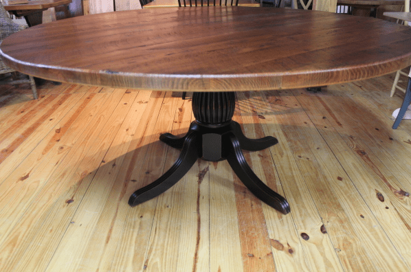 square pedestal kitchen table do it yourself cabinets 72 round oak farm - ecustomfinishes