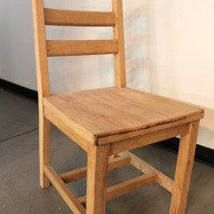 Ladderback Dining Chairs Serta Office Chair Replacement Parts Oak Ladder Back With Scoop Seat Ecustomfinishes