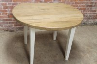 Round Farm Table with drop leaves - ECustomFinishes