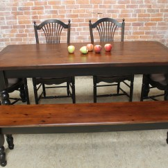 Rustic Farm Table And Chairs Pettibon Wobble Chair Ecustomfinishes