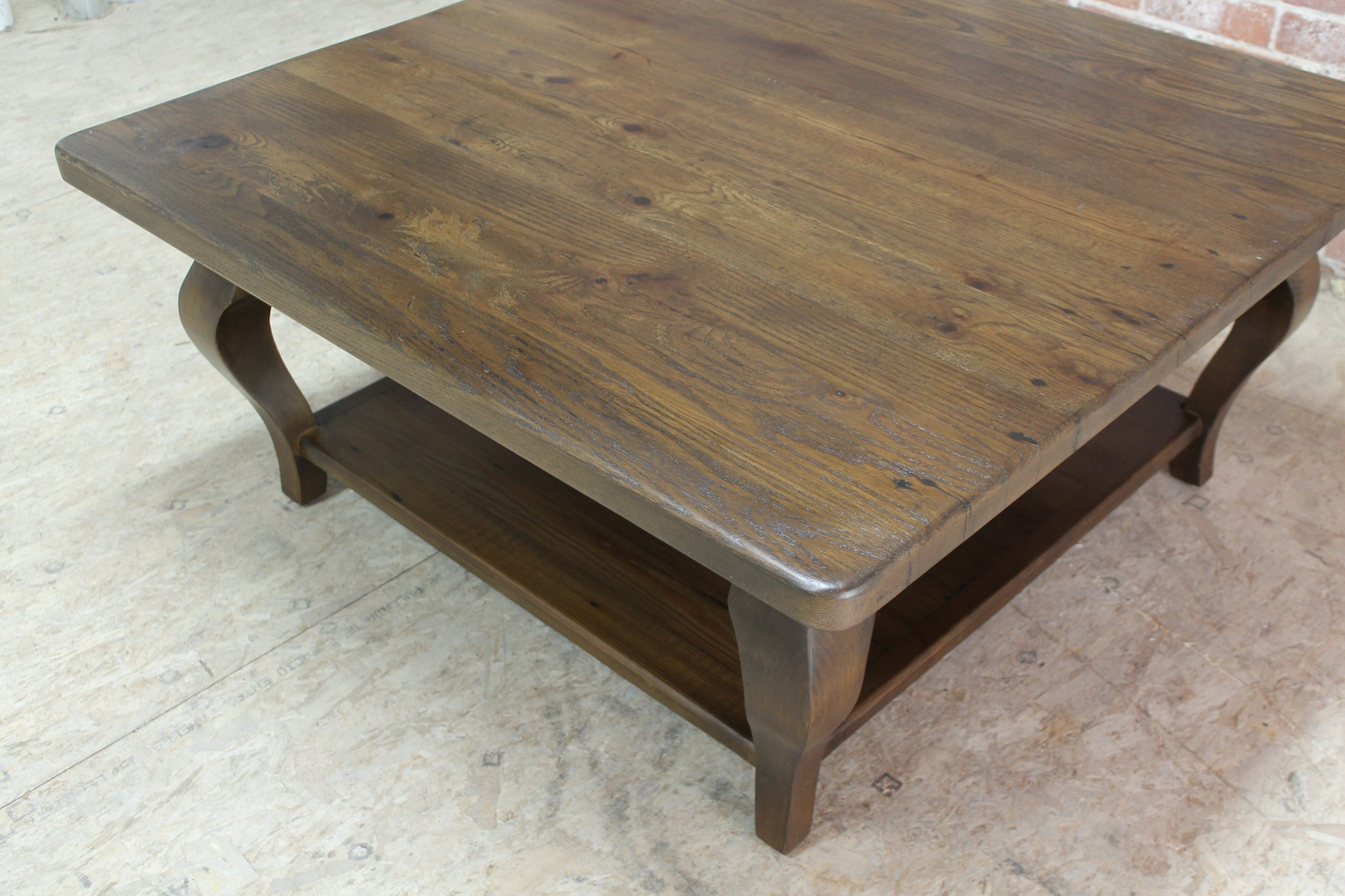 salvaged kitchen cabinets for sale orange wallpaper 42inch square farmhouse coffee table - ecustomfinishes