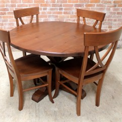Round Oak Table And Chairs Office Houston 48 In Brown Cherry Finish Ecustomfinishes