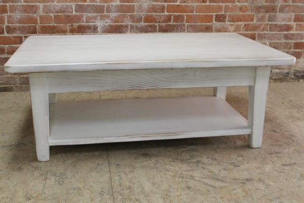 White Reclaimed Wood Coffee Table - Ecustomfinishes
