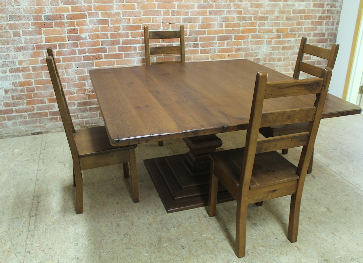 Square Reclaimed Wood Table Ecustomfinishes