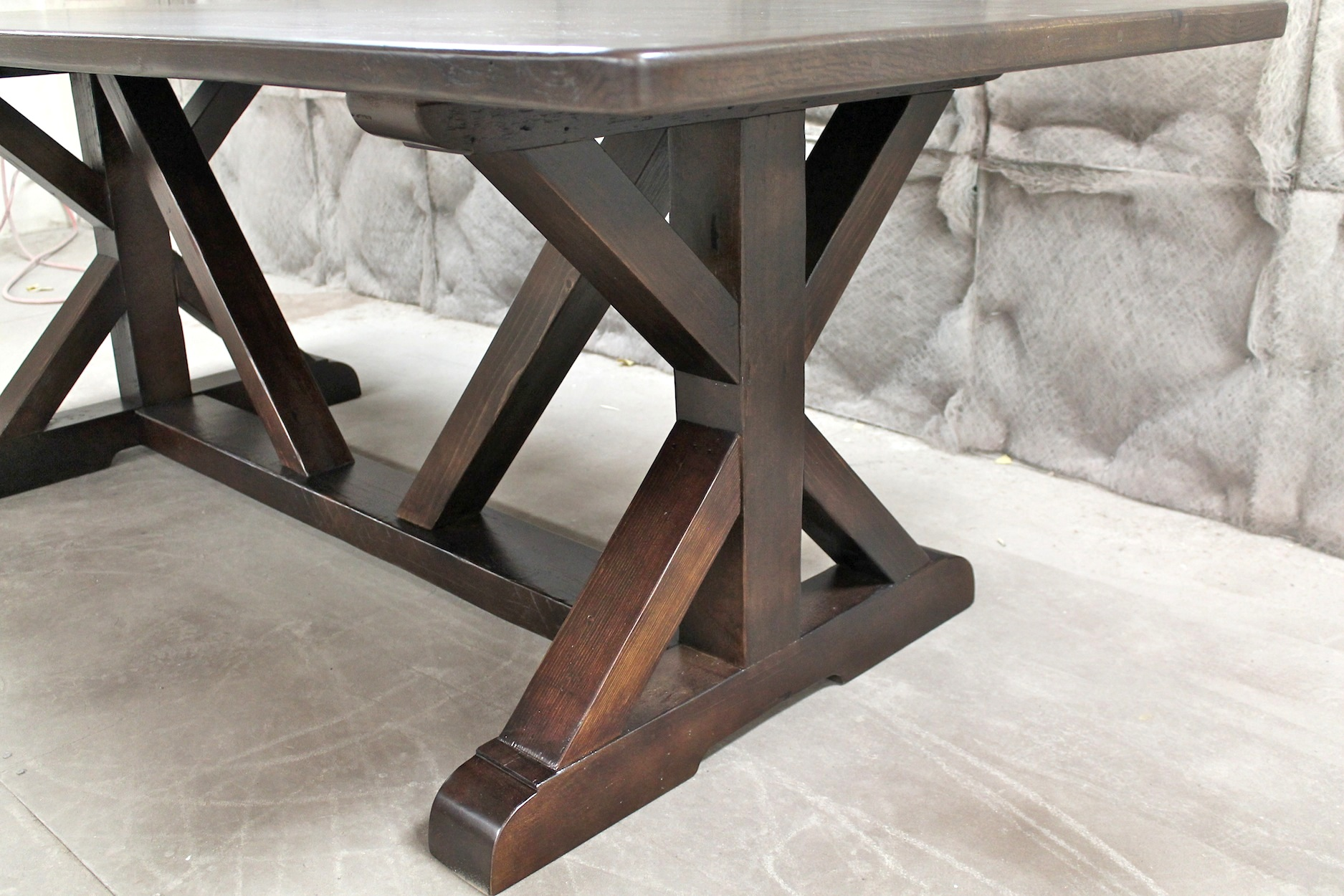 Restoration Hardware Inspired X Base Trestle Table ECustomFinishes