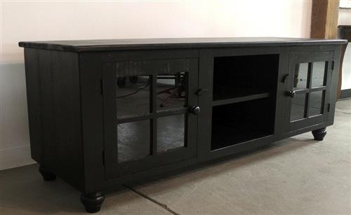Black Media Cabinet From Rustic Barn Wood  ECustomFinishes