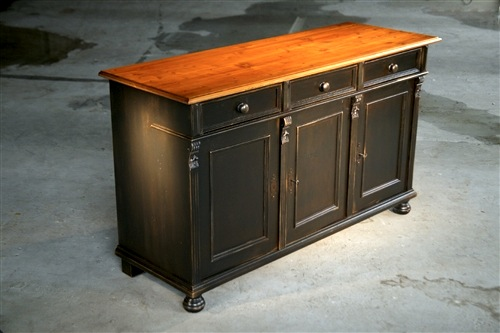 kitchen islands for sale white cabinet doors black barn wood buffet with base and fruitwood ...