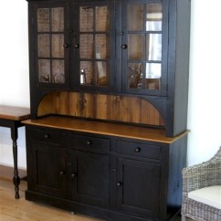 Living Room Buffet Cabinet Paint Color Ideas 2018 Farmhouse Hutch In Black Finish - Ecustomfinishes