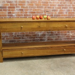 Antique Kitchen Cabinets For Sale Island Long Pine Media Console - Ecustomfinishes