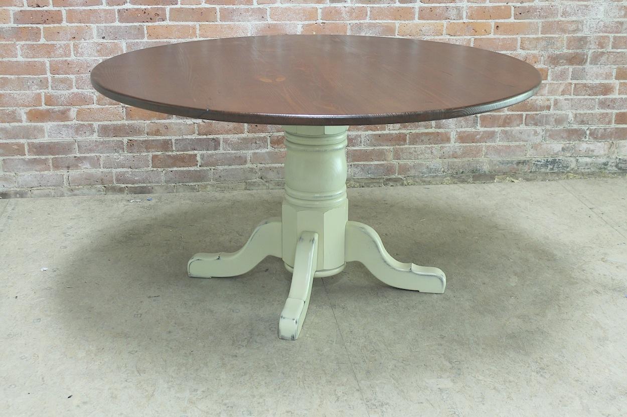 54 Round Rustic Farm Table ECustomFinishes