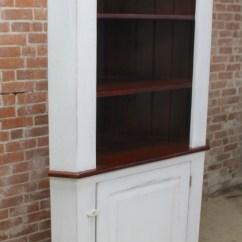Antique Kitchen Hutch Aid Coffee Maker Open Top Corner Cabinet - Ecustomfinishes
