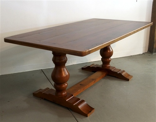 Tuscany Style Trestle Base Farm Table Ecustomfinishes