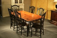 Pine Dining Table With Black French Legs - ECustomFinishes