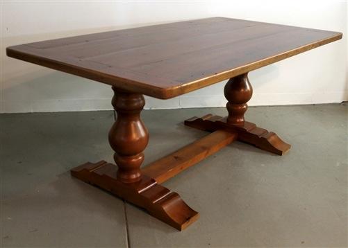tuscany style trestle base farm table