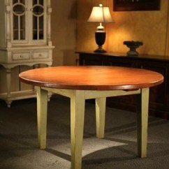 Kitchen Tables Round Island Legs Farmhouse Large Thick Top