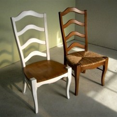 Unfinished Ladder Back Chairs Chair And Matching Stool White Dining - Room Ideas
