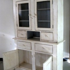 White Hutches For Kitchen Light Fixtures Kitchens Custom Farmhouse Hutch With 2 Glass Doors ...
