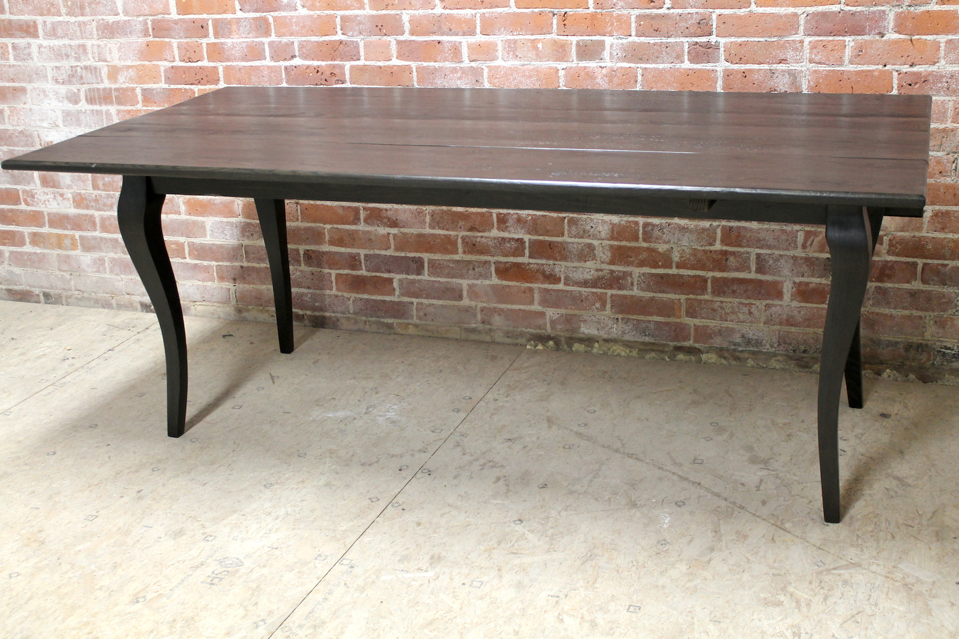 old kitchen cabinets for sale white island with granite top reclaimed oak drop leaf table in black wash - ecustomfinishes