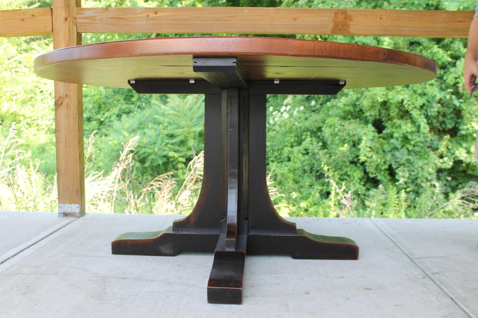 Custom Pedestal for Round Table  ECustomFinishes