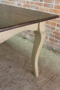 French Country Farm Table with taupe base - ECustomFinishes