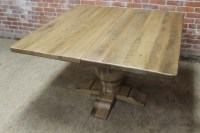 Square Pedestal Table with center extension - ECustomFinishes