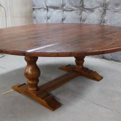 Sofa Table 84 Inches Minimal Corner Inch Round Trestle Ecustomfinishes