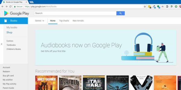Audiobooki w Google Play