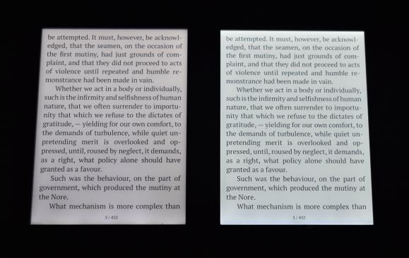 Porównanie oświetlenia ekranu - PocketBook Touch HD vs Touch HD 3