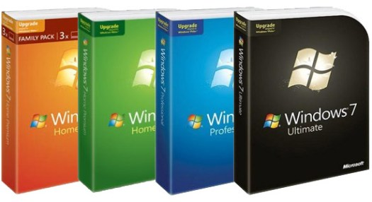 Versiones Upgrade de Windows 7