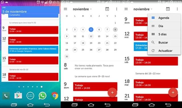 Añade eventos a Google Calendar 5.0