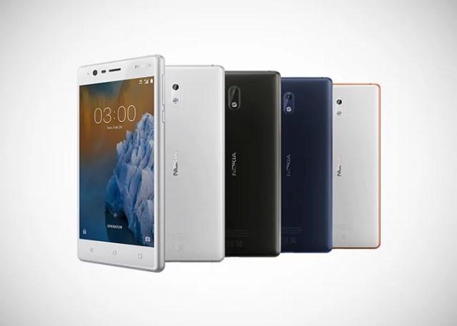 Nokia 3 colores frontal