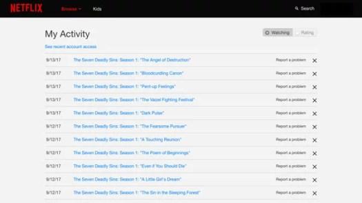 11 trucos Netflix borrar historial