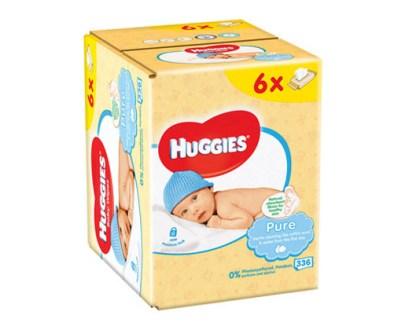 Huggies Pure Wipes £1 6X56Pcs