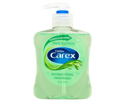 Carex H/Wash Pmp Aloe Vera £1 6X250Ml