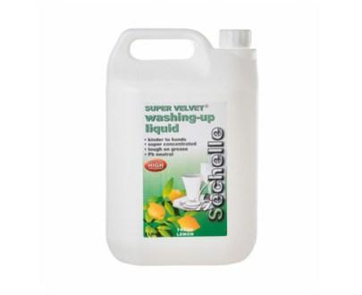 Sechelle Super Velvet Washing Up Liquid 4X5L