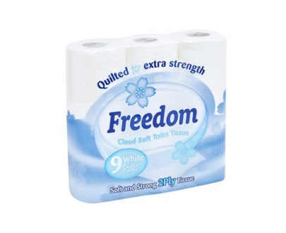 Freedom T/Tissue 9 Pack White 2Ply 5X9Pcs