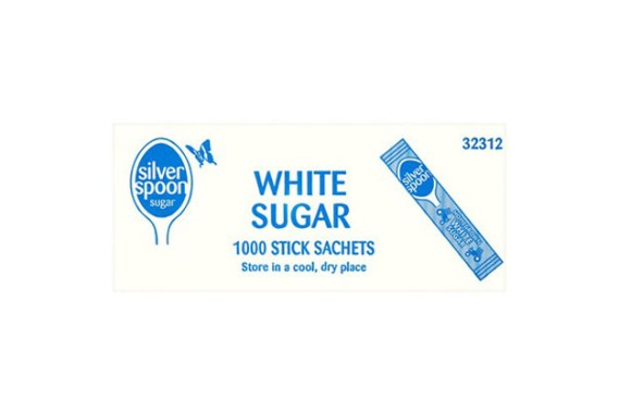 Silver Spoon White Sugar Sticks 1000'S