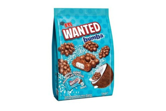 2084300 Eti Wanted Bumba Coconut Mini 12X126Gr